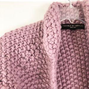 Anthro Twinkle by Wenlan Purple Knit Bolero Sz S